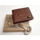 Image of: Portland Rugby Leather Wallet & Bottle Opener