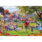 Image of: Picnic on the Green Jigsaw Puzzle (1000 piece)