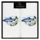 Image of: Fish Embroidered Cotton Handkerchiefs