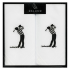 Image of: Golfer Embroidered Cotton Handkerchiefs