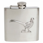 Image of: Pheasant Stainless Steel Hip Flask