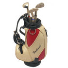 Image of: Golf Bag Pen Holder & Pen Set - Cream/Red