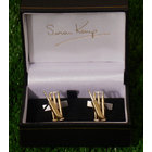 Image of: Cricket Bat and Wicket Silver & Gold Cufflinks