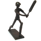 Image of: Cricketer Metal Figurine