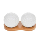 Image of: White Bamboo Golf Ball Cruet Set