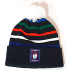 Image of: RBS Six Nations Striped Bobble Beanie