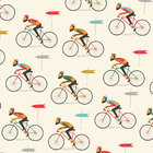 Image of: Le Bicycle Wrapping Paper x 2 sheets