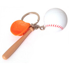 Image of: Baseball Bat and Ball Keyring