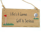 Image of: Life's a Game Golfing Plaque