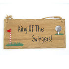Image of: King Of The Swingers Golfing Plaque